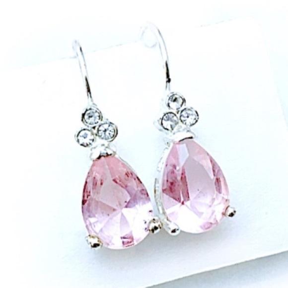 Cherryls Jewelry - Simply Sweet Sterling Pink Crystal Earrings